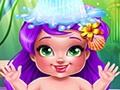 Meerjungfrauenbaby baden